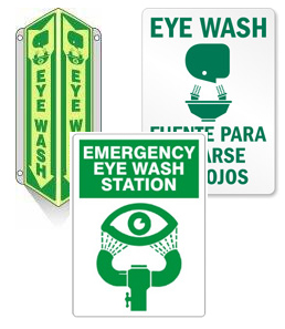 Eye wash Signs and Notices